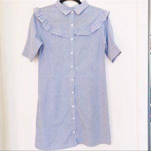 donating soon! 💫 4/$30 H&M ruffled striped dress